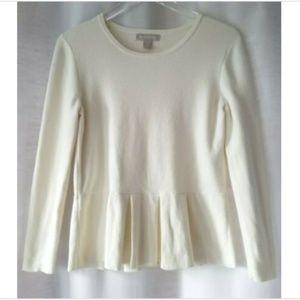Banana Republic large ivory pleat sweater